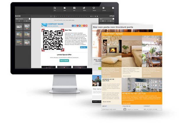 create newsletter with qr code mailstyler